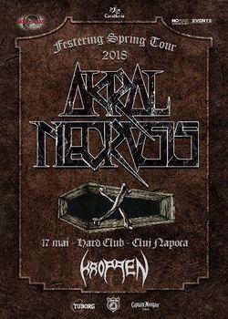 Kroppen ii inlocuiesc pe Marchosias in cadrul concertului Akral Necrosis din Hard Club, Cluj din 17 mai