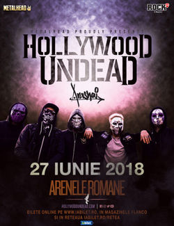 HOLLYWOOD UNDEAD in premiera in Romania pe 27 iunie la Arenele Romane.