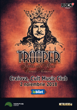 TROOPER lanseaza Stefan Cel Mare Poemele Moldovei in Craiova