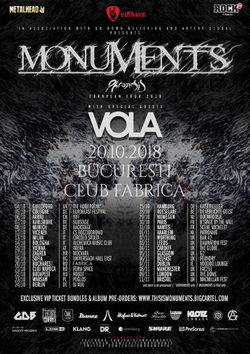 Concert Monuments si Vola pe 20 Octombrie in Fabrica