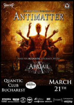 Antimatter si Abigail sustin 3 concerte in Romania