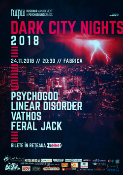Dark City Nights 2018 in Fabrica pe 24 Noiembrie