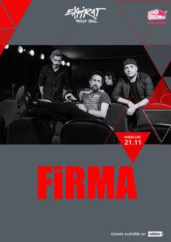 Concert Firma in Club Expirat din Bucuresti pe 21 noiembrie