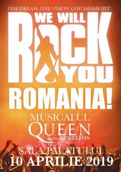 Musicalul 'We Will Rock' pe 10 Aprilie 2019 la Sala Palatului