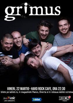 Concert Grimus in Hard Rock Cafe din Bucuresti pe 22 martie 2019