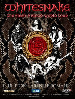 Whitesnake - The Flesh & Blood World Tour pe 1 Iulie la Arenele Romane