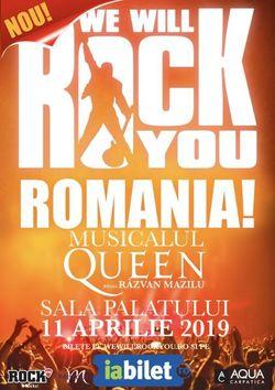 We Will Rock You: A doua reprezentatie pe 11 aprilie!