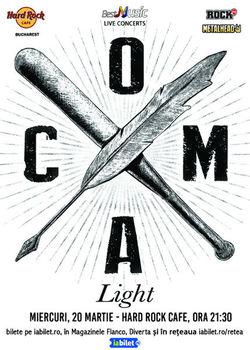 Coma Light - Acustic pe 20 Martie la Hard Rock Cafe