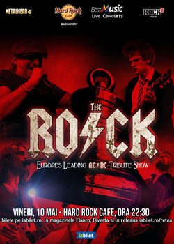 Tribut AC/DC cu The Rock la Hard Rock Cafe pe 10 Mai