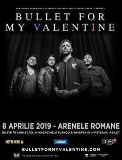 Bullet For My Valentine pe 8 Aprilie la Arenele Romane