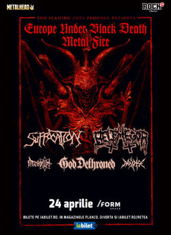 Suffocation, Belphegor si God Dethroned in Cluj pe 24 Aprilie