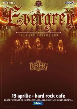 Concert Evergrey la Hard Rock Cafe pe 13 Aprilie