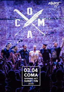 Concert Coma si Sunet Fin in Expirat pe 3 aprilie