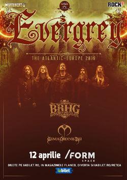 Concert Evergrey la Form Space in Cluj pe 12 Aprilie