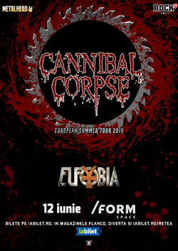 Concert Cannibal Corpse pe 12 Iunie in FORM Space din Cluj-Napoca