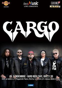 Cargo canta pe 21 noiembrie la Hard Rock Caffe