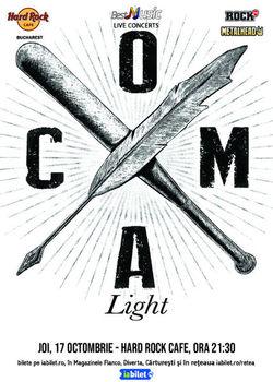 Concert Coma - Light/Acustic la Hard Rock Cafe