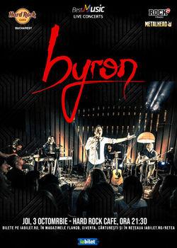 Concert Byron la Hard Rock Cafe