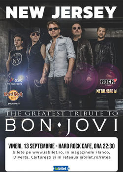 Best Bon Jovi Live Tribute cu New Jersey la Hard Rock Cafe