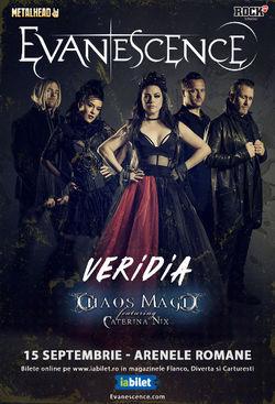 Concert Evanescence la Arenele Romane pe 15 septembrie 2019