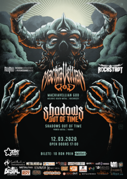 Machiavellian God + Shadows Out of Time canta pe 12 martie 2020 in club Rockstadt