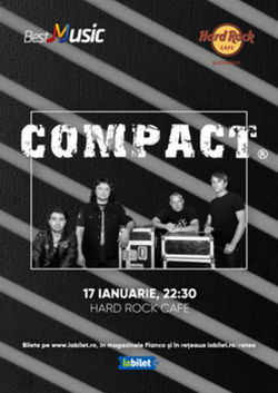 Concert Compact pe 17 ianuarie 2020 in Hard Rock Cafe