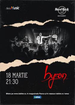 Concert byron pe 18 martie 2020 in Hard Rock Cafe