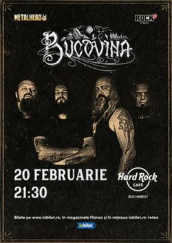 Concert Bucovina pe 20 februarie la Hard Rock Cafe
