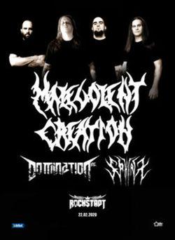Brasov: Concert Malevolent Creation / Domination INC. / Sphinx