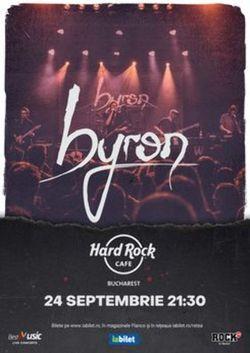 Concert byron pe 24 septembrie