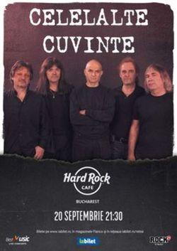 Concert Celelalte Cuvinte pe 20 septembrie la Hard Rock Cafe
