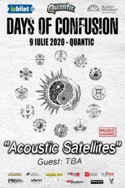 Days Of Confusion  'Acoustic Satellites' pe 9 iulie in Club Quantic