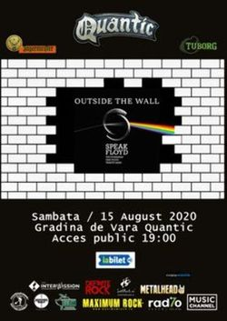 SPEAK FLOYD  Outside the WALL pe 15 august in Club Quantic