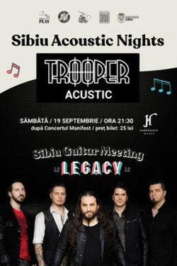 Concert acustic Trooper pe 19 septembrie la Sibiu
