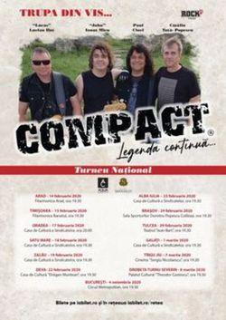Tulcea: Concert Compact pe 19 martie 2021