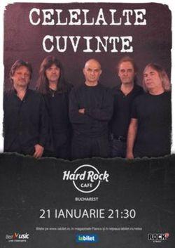 Concert Celelalte Cuvinte pe 21 ianuarie 2021 la Hard Rock Cafe