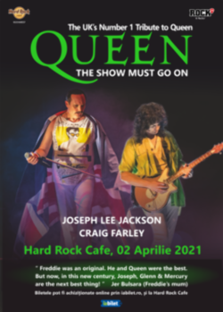 Tribut Queen - The Show Must Go on ( Joseph Lee Jackson & Craig Farlay) pe 2 aprilie