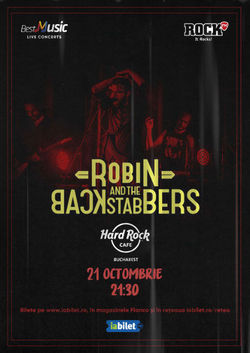 Concert Robin And The Backstabbers pe 21 octombrie