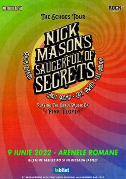 Nick Mason's (Pink Floyd) Saucerful Of Secrets la Arenele Romane pe 9 Iunie 2022