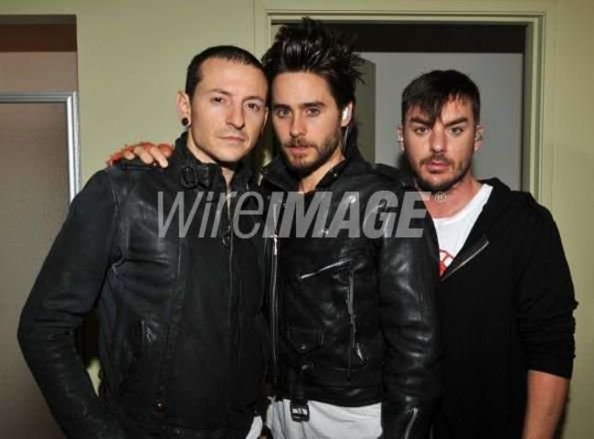 Poze Poze 30 Seconds to Mars - Jared si Shannon cu Cheste Bennigton