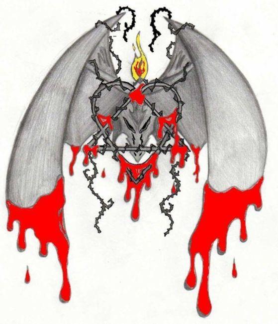 Poze Poze HIM - heartagram tattoo