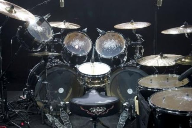 Poze Poze Slayer - dave lombardo drum set