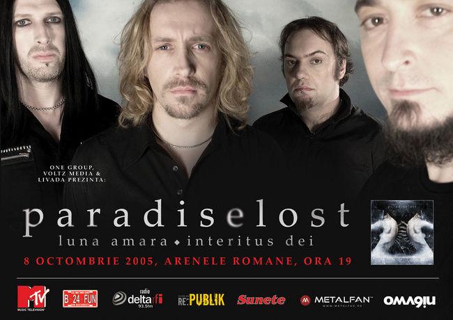 Poze Poze Paradise Lost - Paradise Lost_2005.10.08_Bucharest, RO_Poster