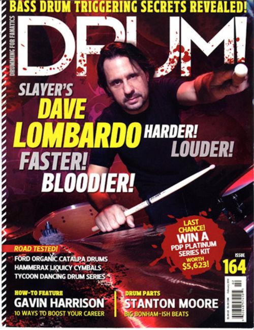 Poze Poze Slayer - Dave Lombardo cover Drum Magazine