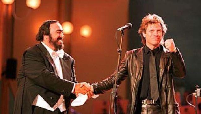 Poze Poze Bon Jovi - jon bon jovi and pavaroti