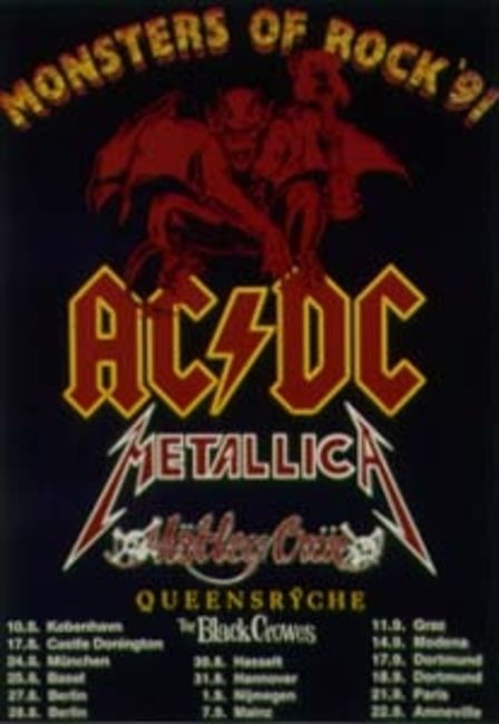 Poze Poze AC/DC - Monsters of Rock 1991