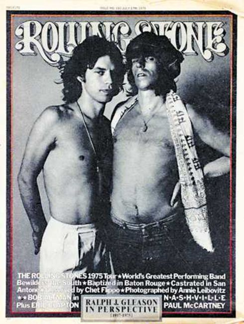 Poze Poze Rolling Stones - Mick and Keith on Rolling Stone magazine
