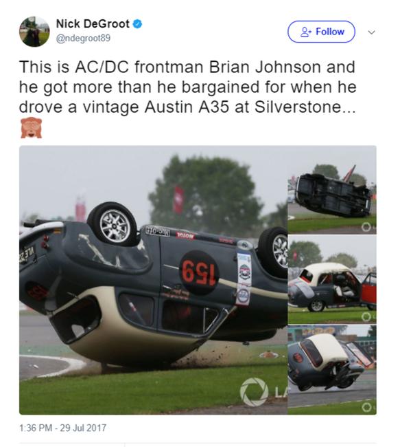 Poze Poze pentru articole - Brian Johnson / accident