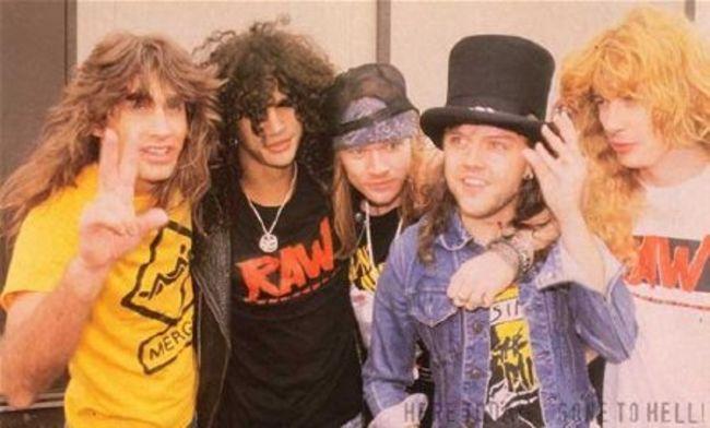 Poze Poze Guns N Roses - Slash.Axl.Lars.Mustaine