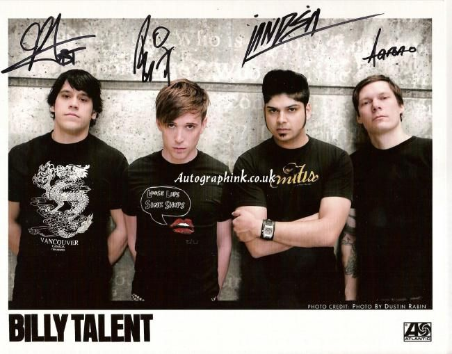Poze Poze Billy Talent - autographs